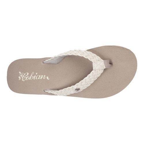 Womens Cobian Braided Bounce Sandals Shoe - Cream 8