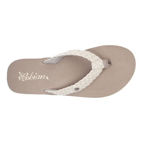 Womens Cobian Braided Bounce Sandals Shoe - Cream 11