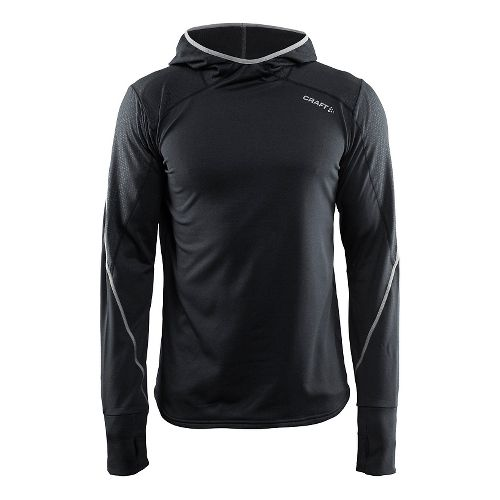 Mens Craft Mind LS Half-Zips & Hoodies Technical Tops - Black M