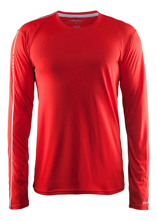 Mens Craft Mind Tee Long Sleeve Technical Tops - Drama/Red L