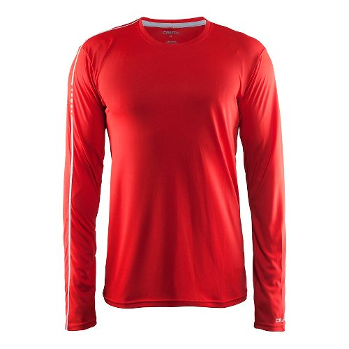 Mens Craft Mind Tee Long Sleeve Technical Tops - Drama/Red M