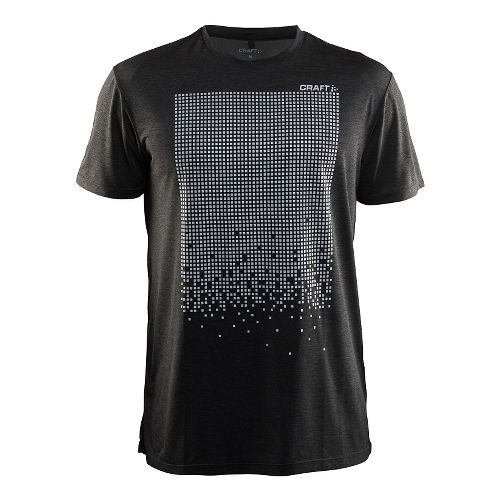 Mens Craft Mind Reflective Tee Short Sleeve Technical Tops - Black L