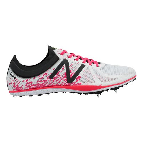 Womens New Balance LD5000v4 Track and Field Shoe - White/Pink 8.5