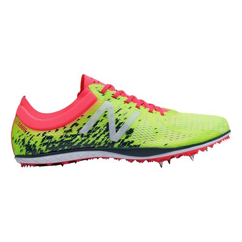 Womens New Balance LD5000v4 Track and Field Shoe - Yellow/Pink 10.5