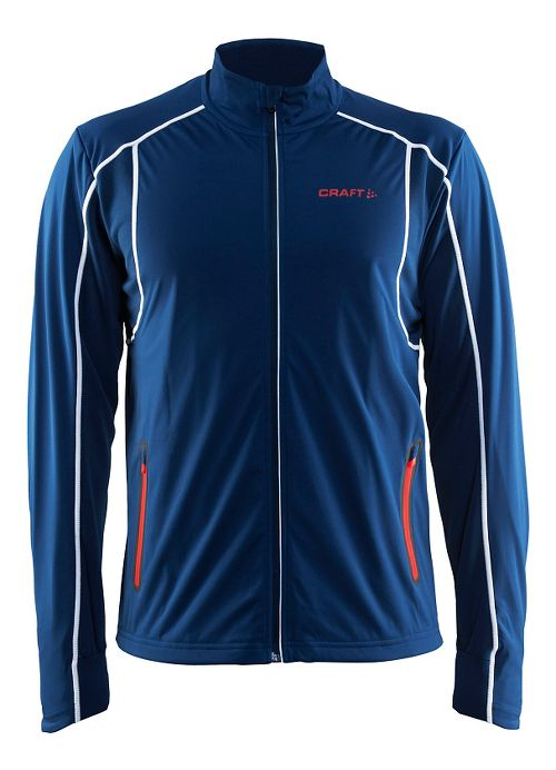 Mens Craft Podium Warm Cold Weather Jackets - Deep Blue L