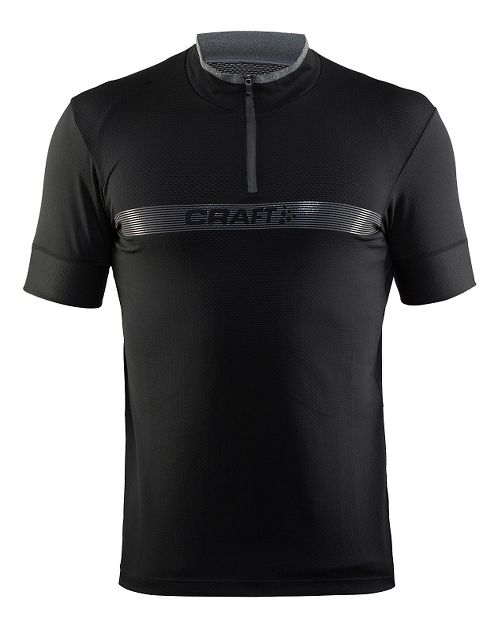 Mens Craft Pulse Jersey Short Sleeve Technical Tops - Black M