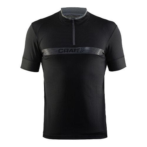 Mens Craft Pulse Jersey Short Sleeve Technical Tops - Black XXL