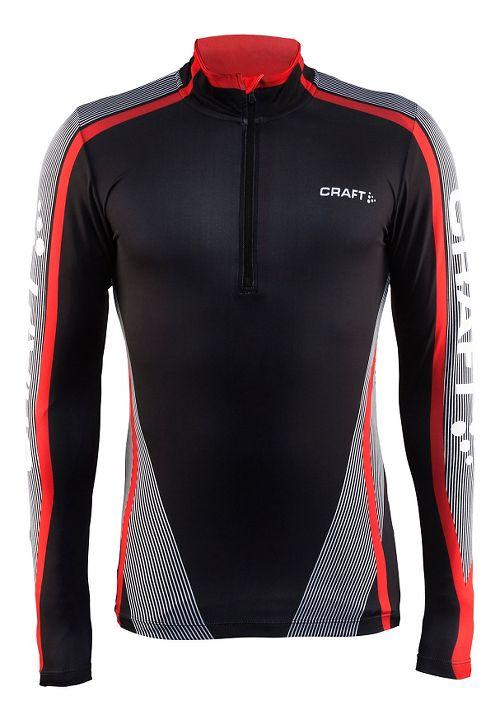 Mens Craft Race Jersey Half-Zips & Hoodies Technical Tops - Black/White S