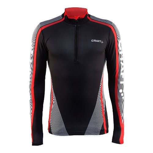 Mens Craft Race Jersey Half-Zips & Hoodies Technical Tops - Black/White L