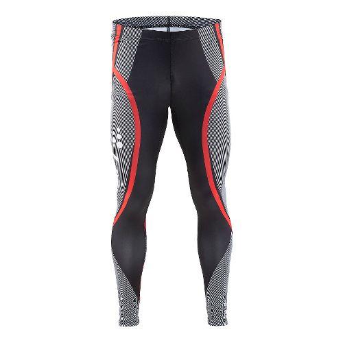 Mens Craft Race Tights & Leggings Pants - Black/White L