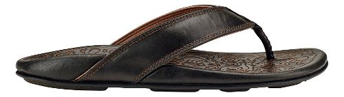 Mens Olukai Waimea Sandals Shoe - Black 11