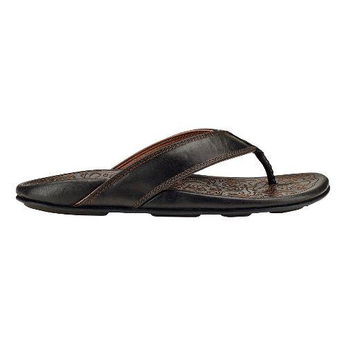 Mens Olukai Waimea Sandals Shoe - Black 11