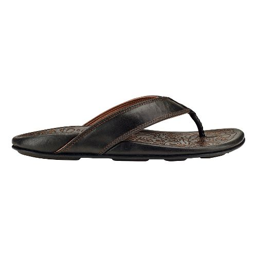 Mens Olukai Waimea Sandals Shoe - Black 12