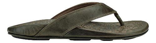Mens Olukai Waimea Sandals Shoe - Basalt/Basalt 15