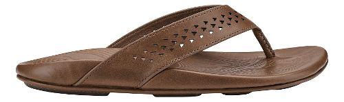 Mens Olukai Kohana Sandals Shoe - Black/Black 15