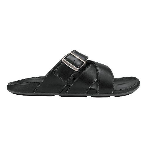 Mens Olukai Kaupe'a Sandals Shoe - Black/Black 8