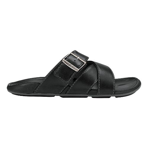 Mens Olukai Kaupe'a Sandals Shoe - Black/Black 9