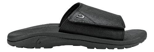 Mens Olukai Kupuna Slide Sandals Shoe - Black/Black 12
