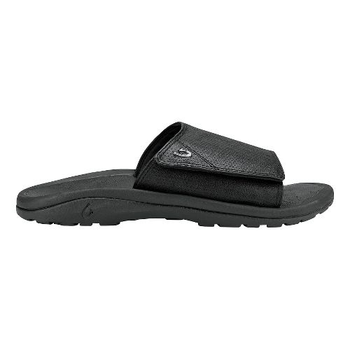 Mens Olukai Kupuna Slide Sandals Shoe - Black/Black 11