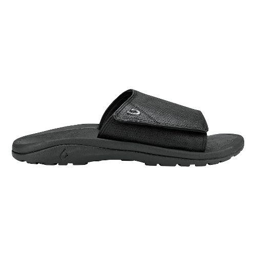 Mens Olukai Kupuna Slide Sandals Shoe - Black/Black 15
