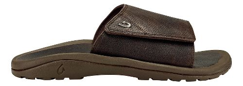 Mens Olukai Kupuna Slide Sandals Shoe - Dark Wood/Dark/Wood 15