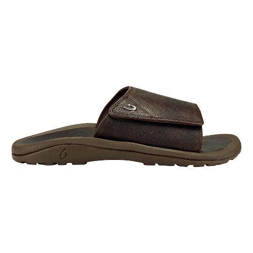 Mens Olukai Kupuna Slide Sandals Shoe - Dark Wood/Dark/Wood 14