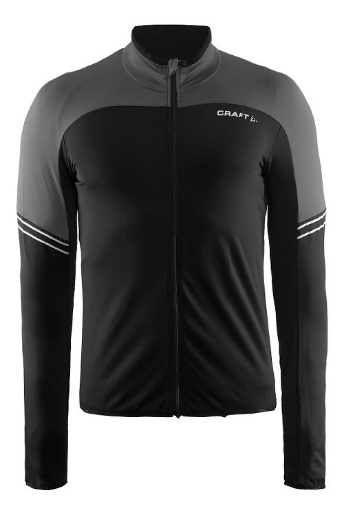 Mens Craft Velo Thermal Jersey Long Sleeve Technical Tops - Dark Grey L