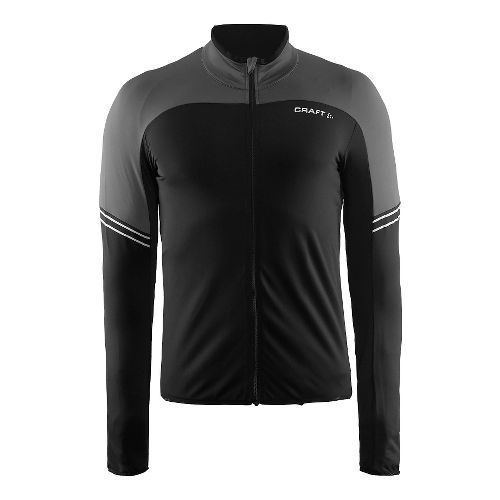 Mens Craft Velo Thermal Jersey Long Sleeve Technical Tops - Dark Grey XL