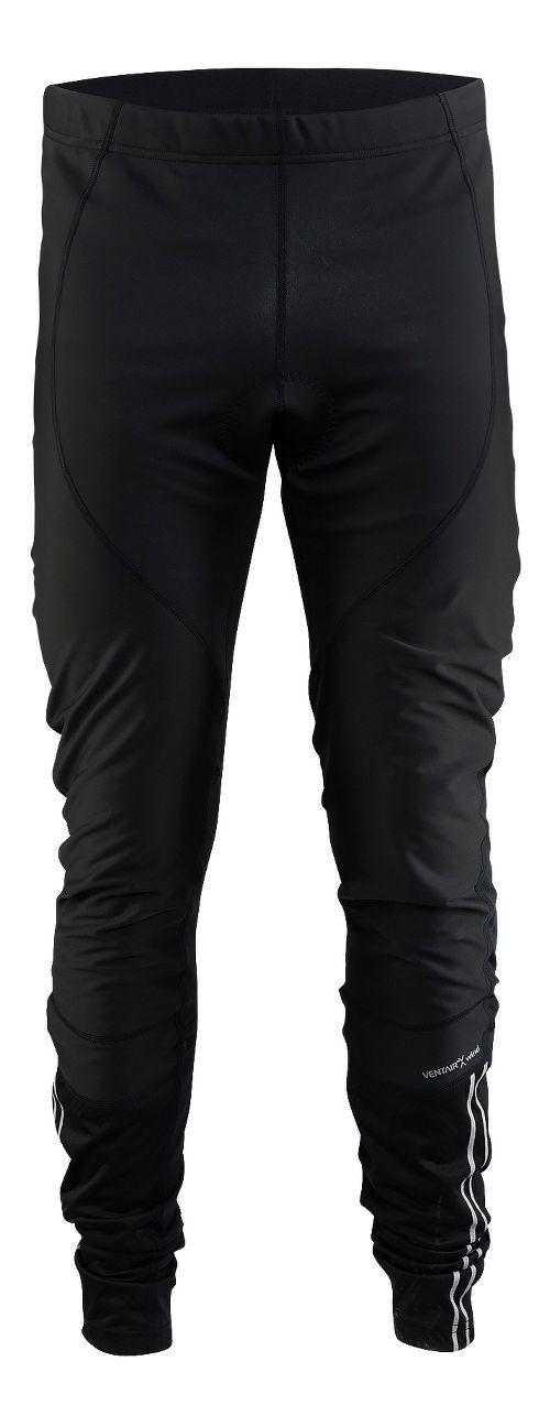 Mens Craft Velo Thermal Wind Tights & Leggings Pants - Black S