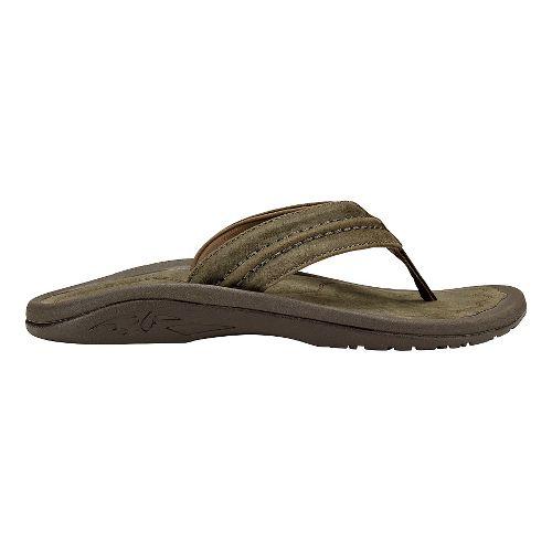 Mens Olukai Hokua Leather Sandals Shoe - Caldera/Caldera 13