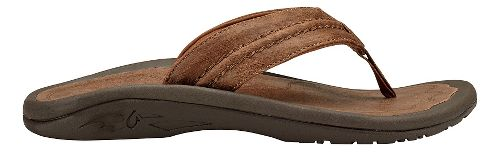 Mens Olukai Hokua Leather Sandals Shoe - Toffee/Toffee 9