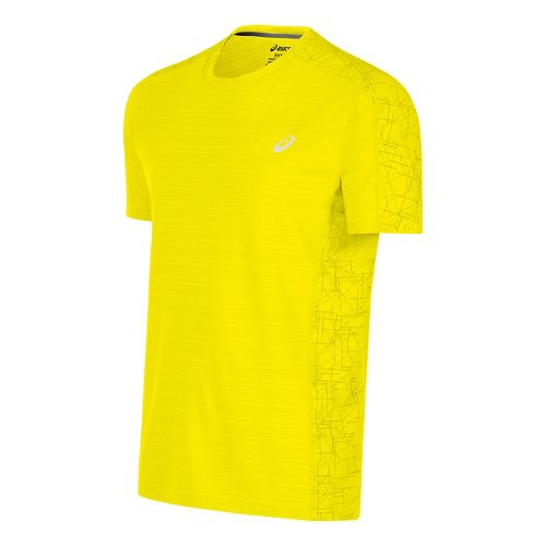 Mens ASICS Lite-Show Short Sleeve Technical Tops - Safety Yellow L