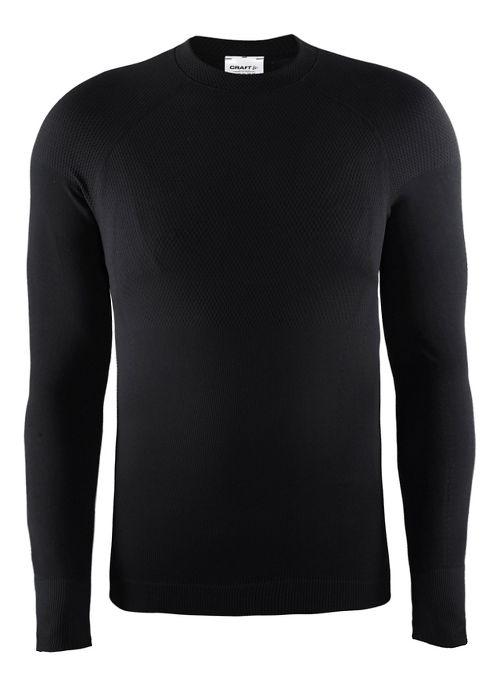 Mens Craft Warm Crewneck Long Sleeve Technical Tops - Black L
