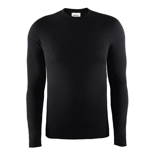 Mens Craft Warm Crewneck Long Sleeve Technical Tops - Black S