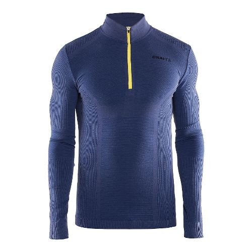 Mens Craft Wool Comfort Half-Zips & Hoodies Technical Tops - Deep Blue L