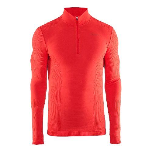 Mens Craft Wool Comfort Half-Zips & Hoodies Technical Tops - Drama Red L