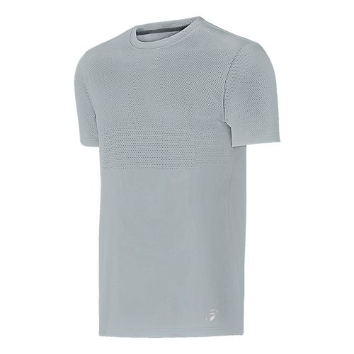 Mens ASICS Short Sleeve Technical Tops - Midgrey S