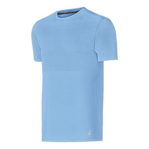 Mens ASICS Short Sleeve Technical Tops - Powder Blue L