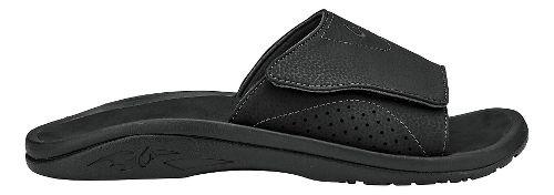 Mens Olukai Nalu Slide Sandals Shoe - Black/Black 11