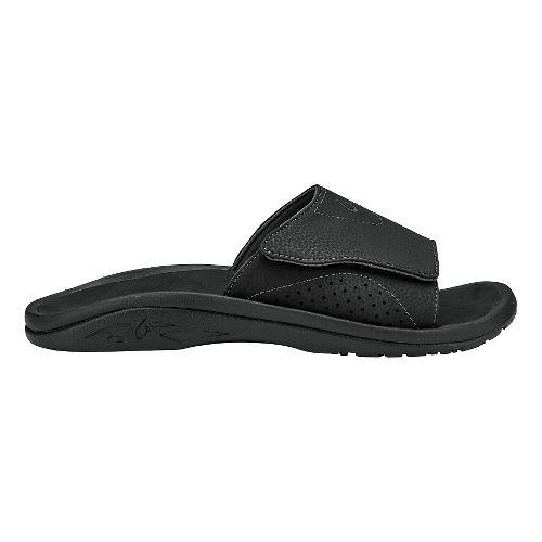 Mens Olukai Nalu Slide Sandals Shoe - Black/Black 14