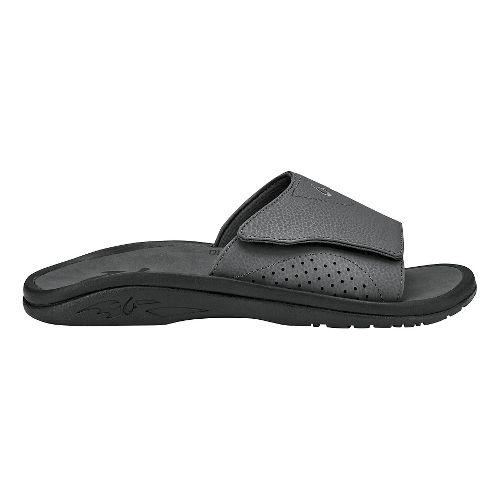 Mens Olukai Nalu Slide Sandals Shoe - Dark Shadow 16