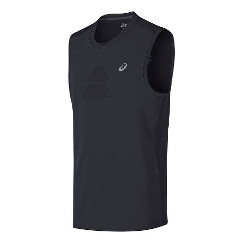 Mens ASICS Sleeveless & Tank Tops Technical Tops - Black XL