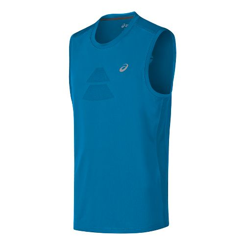 Mens ASICS Sleeveless & Tank Tops Technical Tops - Thunder Blue XXL