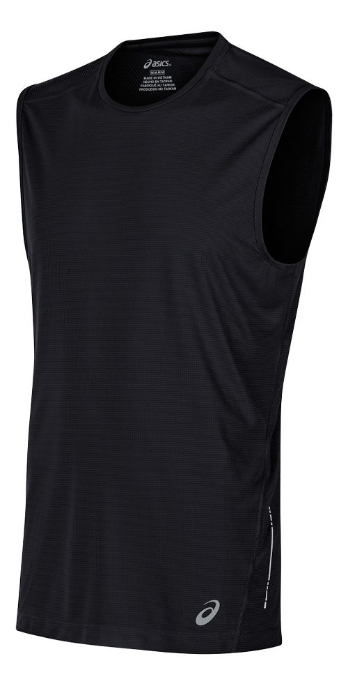 Mens ASICS Sleeveless & Tank Tops Technical Tops - Black S