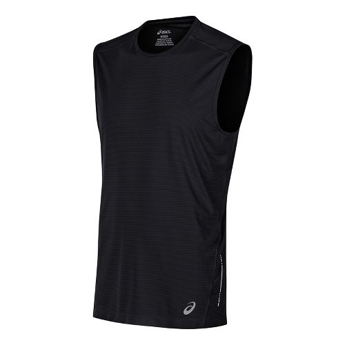 Mens ASICS Sleeveless & Tank Tops Technical Tops - Black XXL