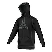 Mens Adidas Essential Cotton Fleece Pull-Over Half-Zips & Hoodies Technical Tops