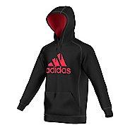 Mens Adidas Essential Cotton Fleece Pull-Over Half-Zips & Hoodies Technical Tops