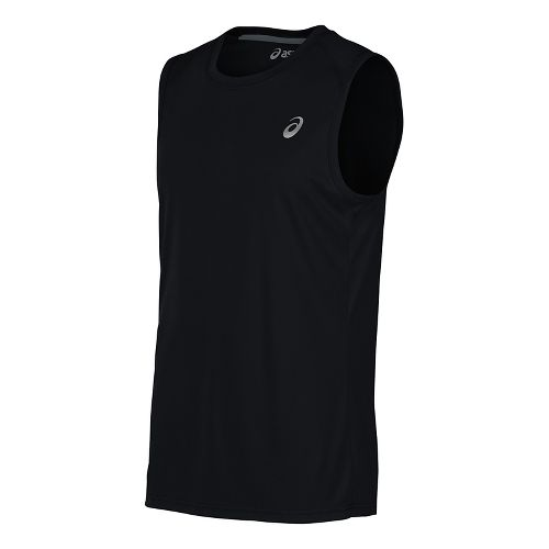 Mens ASICS Sleeveless & Tank Tops Technical Tops - Midgrey L