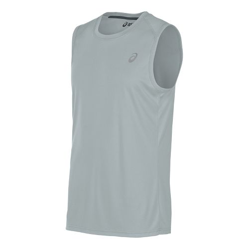 Mens ASICS Sleeveless & Tank Tops Technical Tops - Midgrey XL