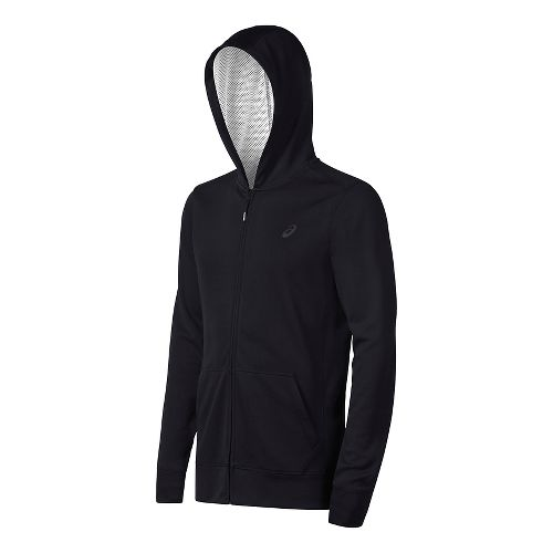 Mens ASICS Tech Half-Zips & Hoodies Technical Tops - Black L